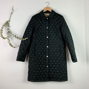 L.L. Bean Midnight Blue Long Quilted Puffer Jacket
